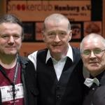 Frieder, Steve und Trevor bei einem Snookerevent